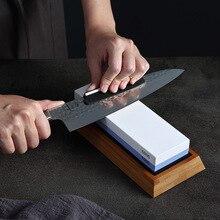 Xinzuo pro pedras de afiar dupla face, pedra de amolar 1000/6000 grão, afiador de faca, acessórios de cozinha