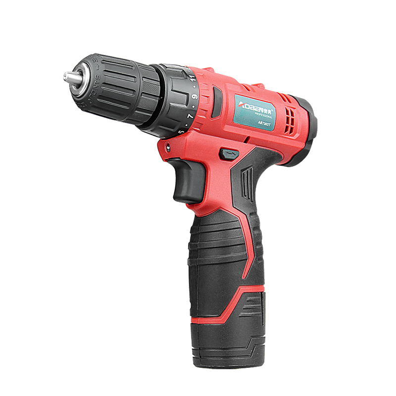 AOBEN 12V Rechargerable Lithium Cordless Drill 2 Batteries Screwdriver Power Tools Mini Household Electric Drill With Drill Bits in Electric Drills from Tools