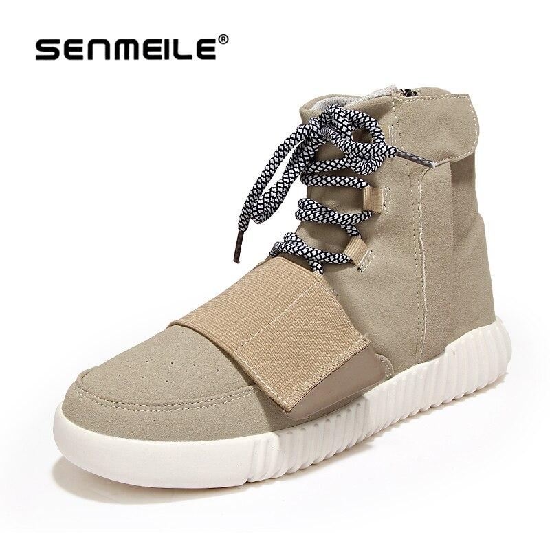 Erkekler Çizmeler Tuval Rahat Ayakkabı 2015 Yeni Sonbahar Kış Moda marka Eur Boyutu 39-44 Katı Dantel-Up Rahat Ayak Bileği Çizme Daireler 6007
