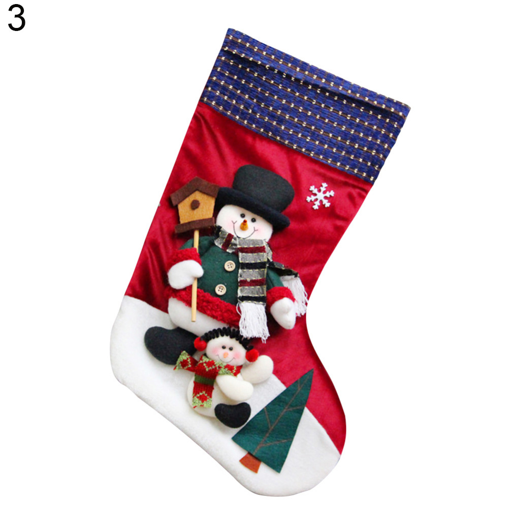 6377611d2df Aliexpress.com   Buy Cute 3D Santa Claus Snowman Xmas Stocking Gift Sock  Christmas Holiday Decor from Reliable decorative decorative suppliers on  huayan s ...