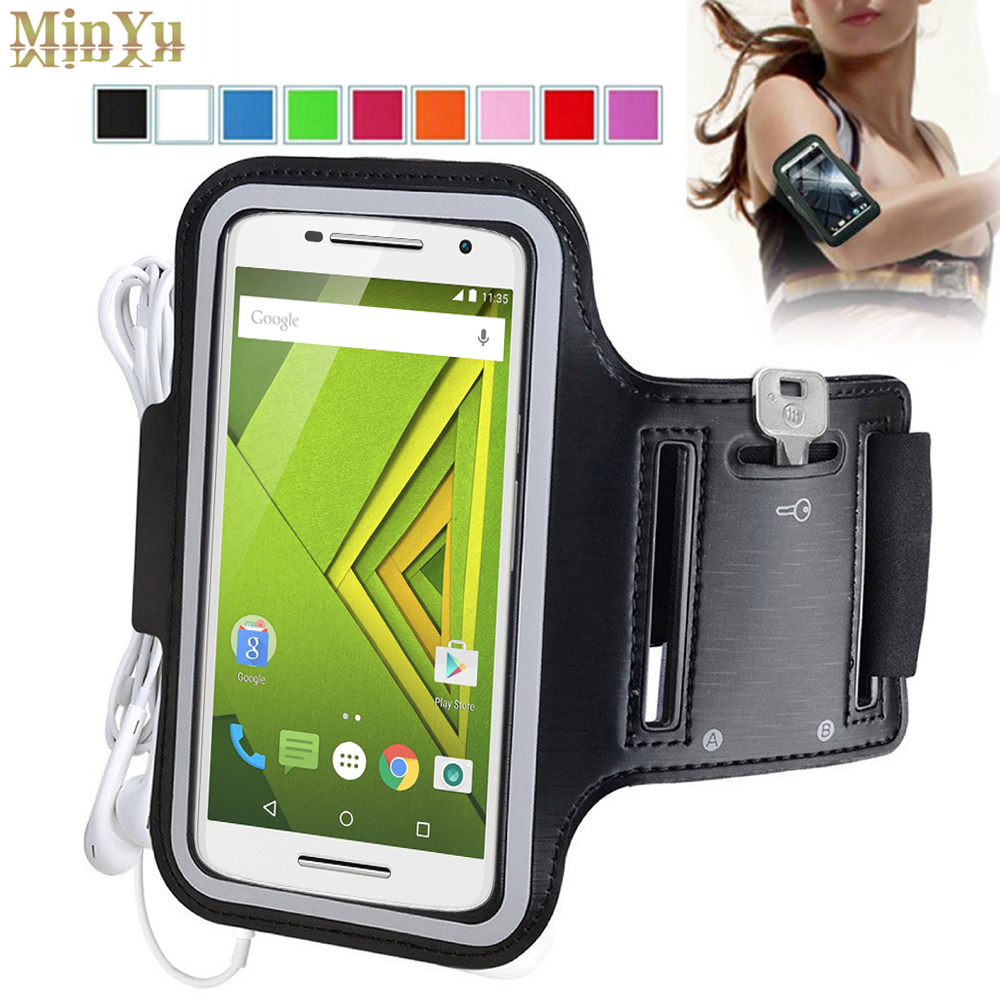 for Motorola Moto X Style Waterproof Sport Arm Band Leather Case for Motorola Moto G4 Plus
