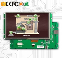5 Inch Touch Screen LCD TFT With UART Interface And RS232 / USB Port