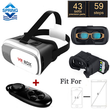 VR BOX 2.0 Virtual Reality Glasses VR Case 3D Glasses For 3.5 – 6.0 inch Smartphone + bluetooth remote controller