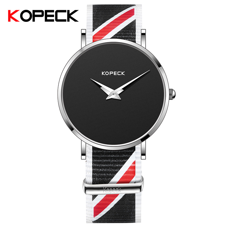 KOPECK Fashion Clock Men Watch Top Brand Luxury Quartz Nylon Watch Male Sport Watches Reloj Hombre Relogio Masculino GB-6008GN kinyued top brand luxury watches men luminous sport men s watch steel male clock men quartz wristwatches reloj hombre 2017 saat