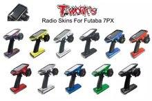 T-WORK DER Futaba 7PX Radio Haut Aufkleber Spiegel Chrom Radio 3D Farben Graphit Aufkleber für futaba 7PX/7PXR Geschenk screen protector