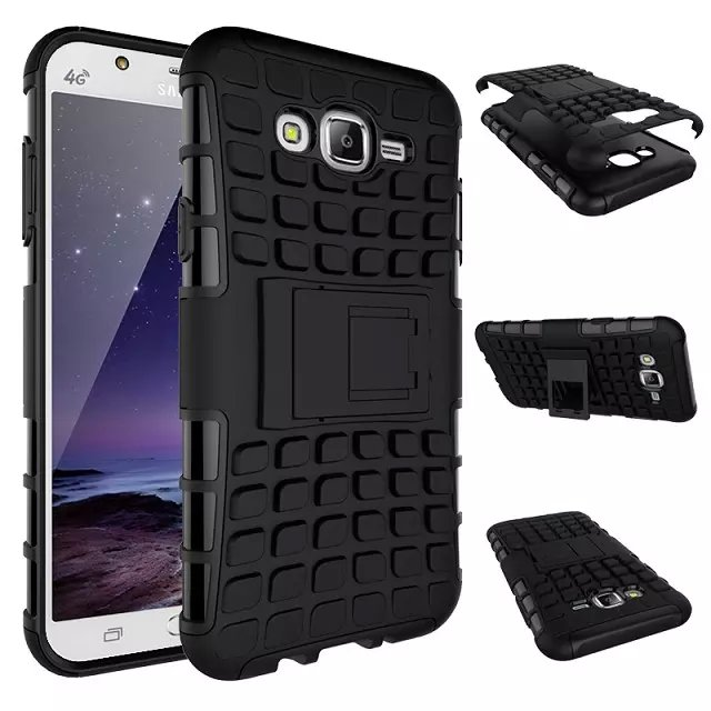watch 465e1 69dd0 US $3.5 |For Samsung Galaxy J7 J700 Case 5.5inch High Quality Hybrid  Kickstand Rugged Rubber Armor Hard PC+TPU Stand Function Cover Cases-in ...