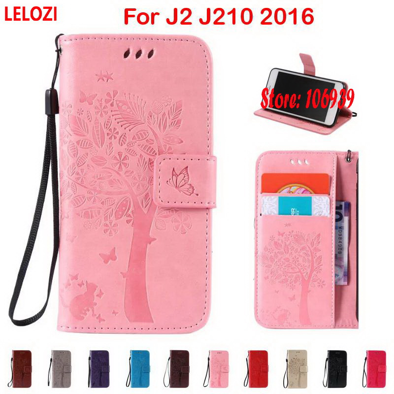 LELOZI Tree Leaf Cat Butterfly PU Leather Flip Book Wallet Girl Wallt Case cubierta For  ...