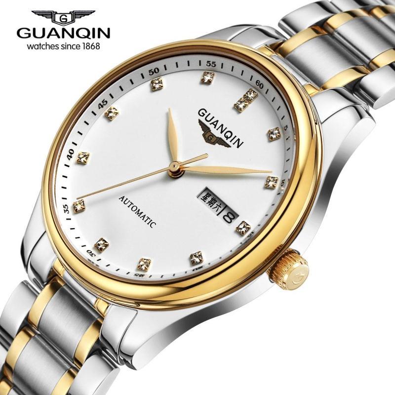 Famous Brand GUANQIN Men Mechanical Watch Date Luxury Brand Watches Sapphire Men Sale Waterproof Watch Relogio Masculino Reloj стоимость