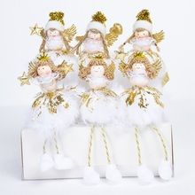 Cute Angel Desk Figurines Holiday Home Decor Ornaments Christmas Tree Decor for Xmas Cute Kids Gifts