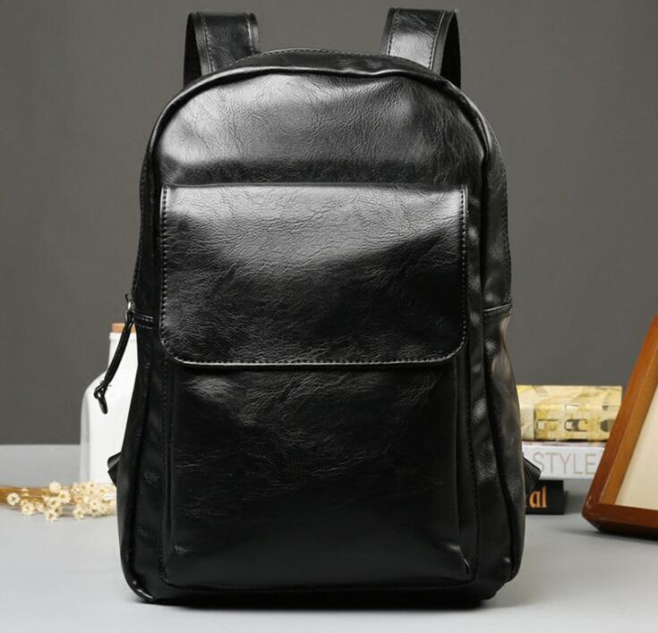 ETN BAG 081216 hot sale man leather backpack male casual travel bag ...