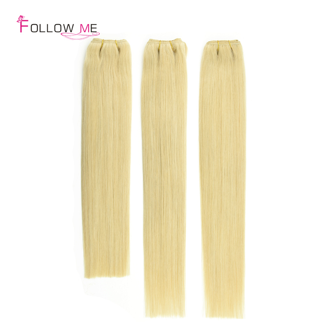 Aliexpress Buy 100g European Remy Human Hair Blonde Straight