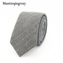 Mantieqingway Fashion Casual Cotton Plaid Striped Mens Tie for Men 6CM Narrow Wedding Business Necktie Fresh