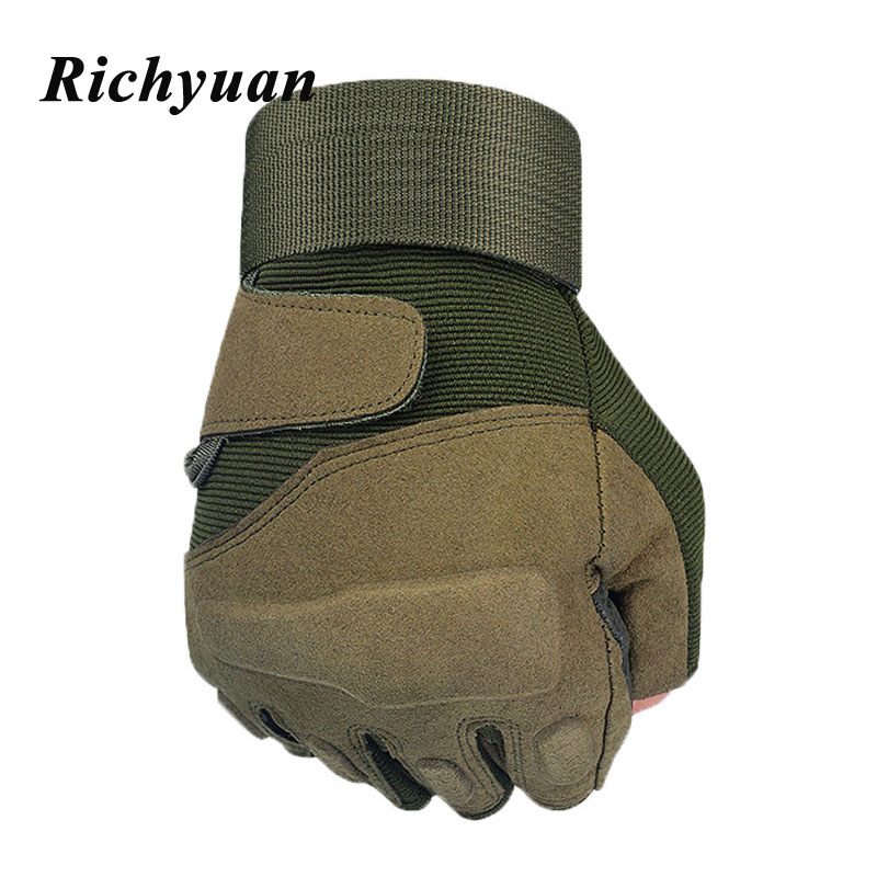 New  Hell Storm US Tactical Military Gloves Special Forces Tactical Army Gloves Slip Outdoor Men Fighting Fingerless Gloves