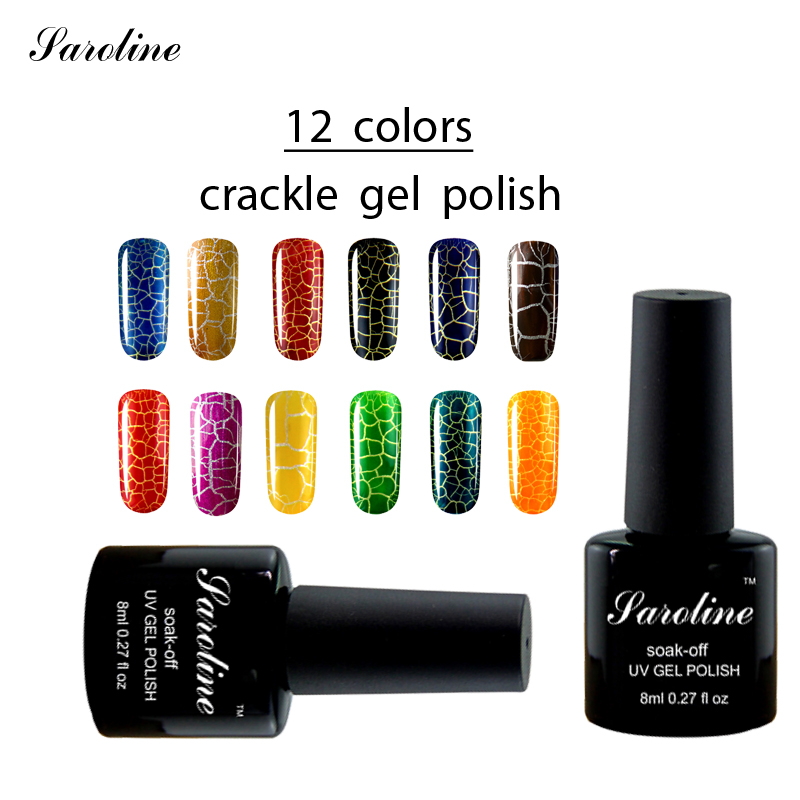 Saroline 8ml Crackle Gel Nail Polish Nail Art UV LED Light