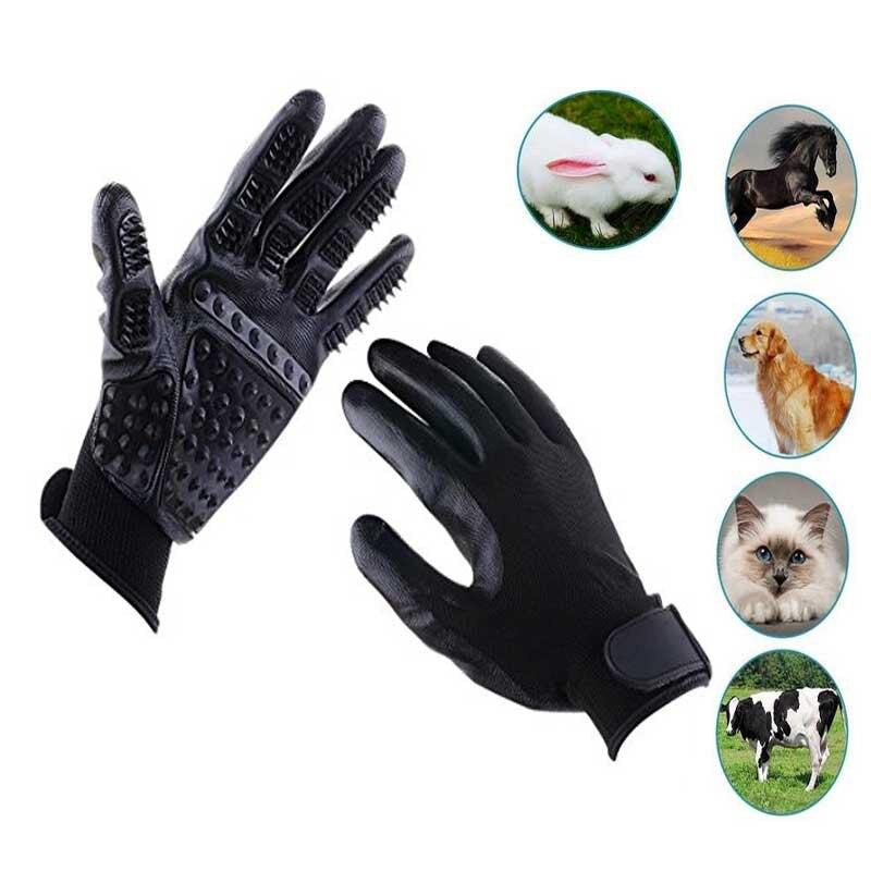 Pet de Bain gants Poils Gants De Cheval En Caoutchouc de Bain Épilation Gants Brosses de Bain Toilettage Gants pour chien et chats