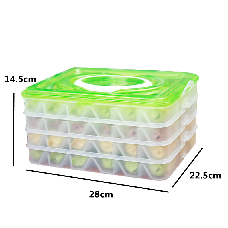 4 layers 5 layers Portable Dumpling storage Box refrigerator Fresh Keeping Container Holder Organizer kitchen accessories in Storage Boxes Bins from Home Garden