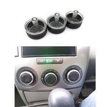 3 pçs/set botão Ar Condicionado AC Knob 6 Aquecedor Controle de Temperatura Botões Para Mazda 2006 para 2015 Acessórios Do Carro