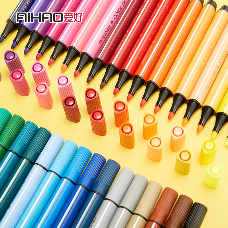 2019 Color Mark Pen Art Marker Drawing Set Colors Children Watercolor Pen Safe Non-toxic Water Washing Graffiti Health