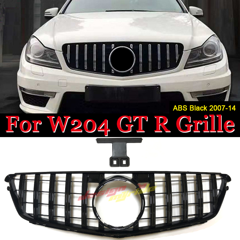 Fits For Mercedes MB W204 C Class C180 C200 C250 C350 C63 Sport grille grill GTS style ABS black W204 Front Bumper Grille 07-14Fits For Mercedes MB W204 C Class C180 C200 C250 C350 C63 Sport grille grill GTS style ABS black W204 Front Bumper Grille 07-14