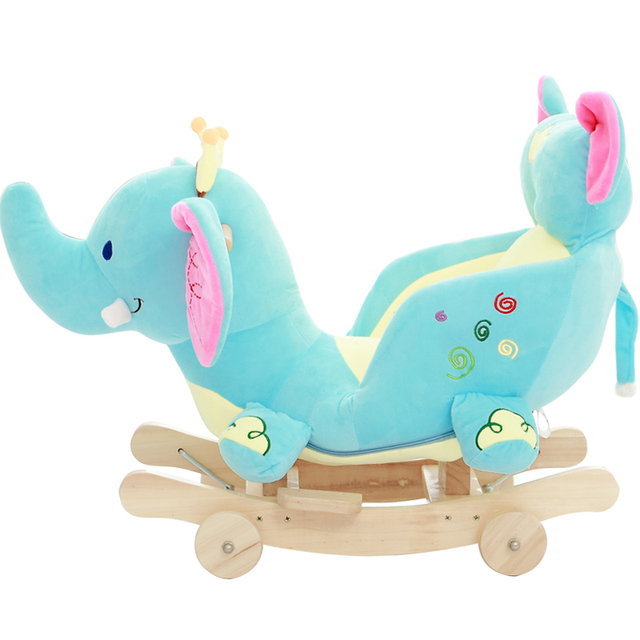 Baby swing Plush Horse Toy Rocking Chair Baby Bouncer baby Swing Seat Outdoor Baby Bumper Kid Ride On Toy Rocking Stroller Toy 3
