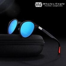 Whale&Eagle Cat Eye Oval Sunglasses Classic Cool Driver Polarized Blue Coated Lens Brand Design Men Women Sun Glasses UV400