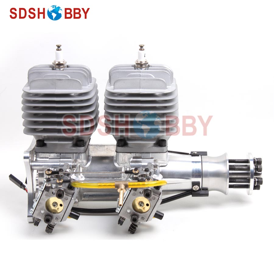 DLA116-INLINE CNC Processed Inline Gasoline Engine/Petrol Engine 116CC for Gas Airplanes with Double Cylinders dla58 cnc processed gasoline engine petrol engine 58cc for gasoline airplanes with walbro carburetor and nsk bearing