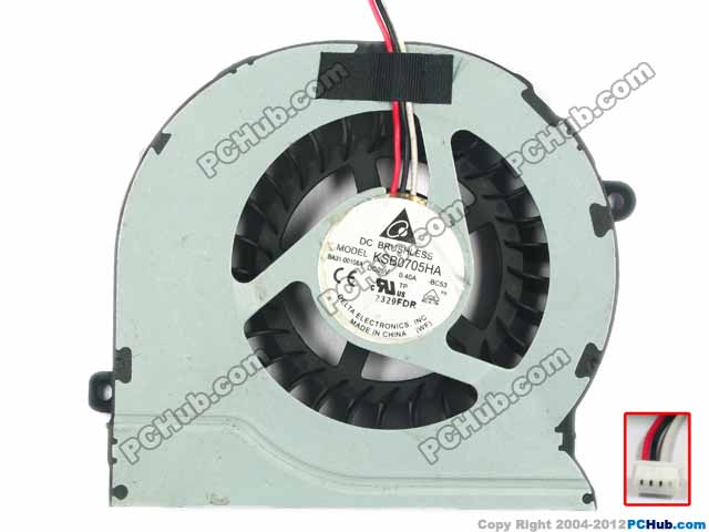 Delta Electronics KSB0705HA -BC53 Server Laptop Fan DC5V 0.40A 3-wire