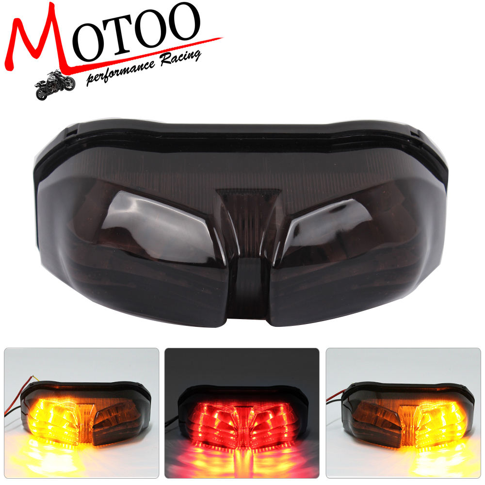 Motoo - free shipping Motorcycle LED Rear Turn Signal Tail Stop Light Lamps For Yamaha FZ8 10-13 FZ1 06-13