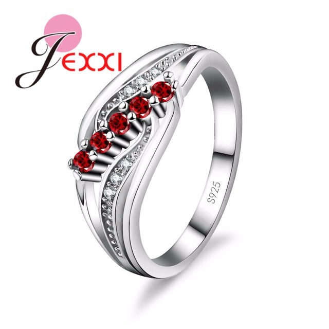 JEXXI 5 Color Option Women Silver Finger Ring Geometric Twist Band S90 Silver Je