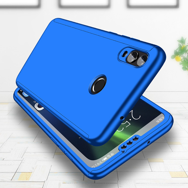 Luxury 360 Degrees Full Shockproof Cover For Nokia 6.1 Case Shell Hard PC Cover Cases For Nokia 3.1 Tempered Glass