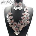 Vintage Étnico Turco Joyería Set Collar Pendientes Pulsera de Monedas de Plata Antiguo de la Turquesa Colgante Collar Maxi para Las Mujeres