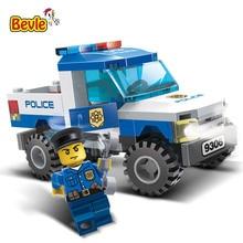 Gudi 9306 84 Pcs Série Do Caminhão Do Carro Da Polícia Da Cidade de Figuras Modelo Montado Blocos de Construção Compatíveis com Legoings Brinquedos Da Cidade