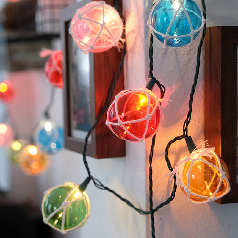 5M 20Led Multicolor round ball string light Plug-in Cotton Ball String Lights Holiday Fairy Light for Christmas wedding decor