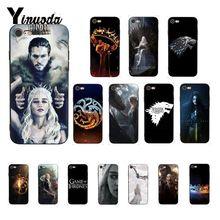 Yinuoda Game Thrones Daenerys Dragon Jon Snow DIY Luxury Protector Phone Case for iPhone 8 7 6 6S 6Plus X XS MAX 5 5S SE XR 10