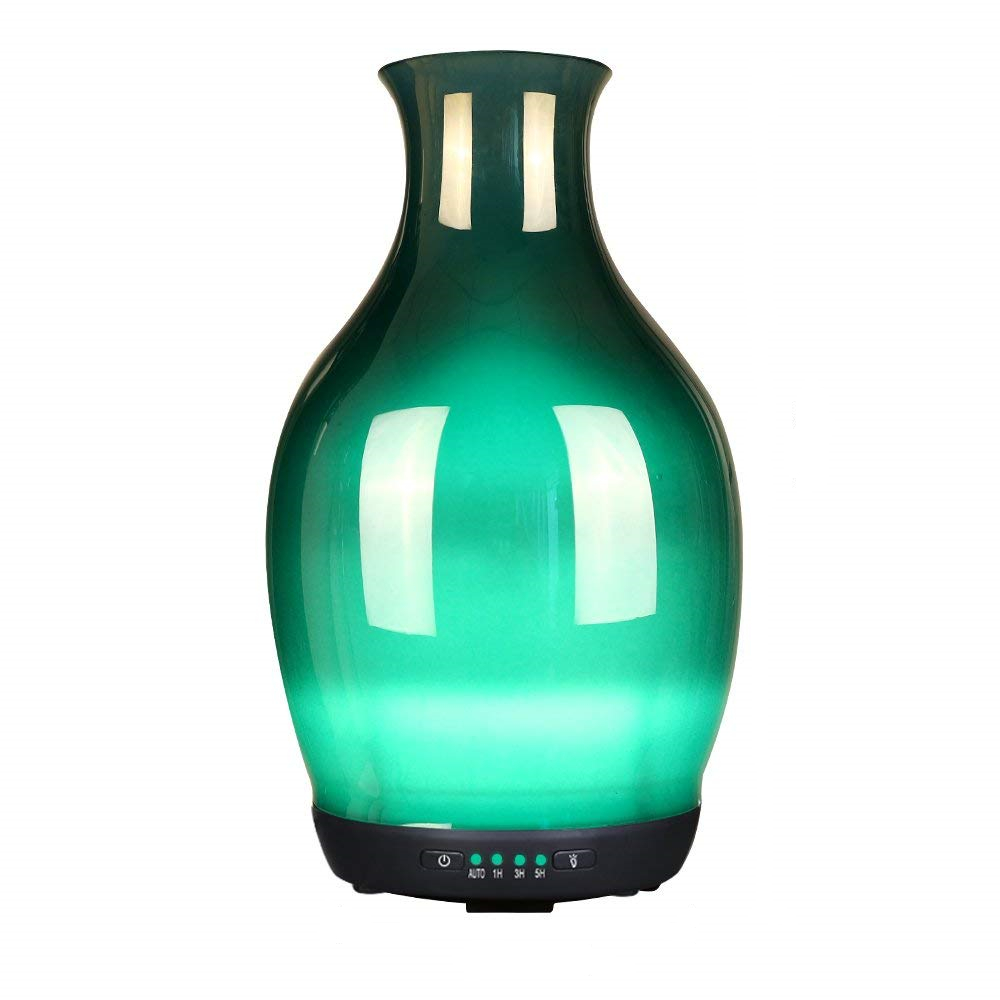 250ML Glass Covered Air Humidifier 7 Gradient Colors Light Aroma Essential Oil Diffuser Ultrasonic Mist Maker