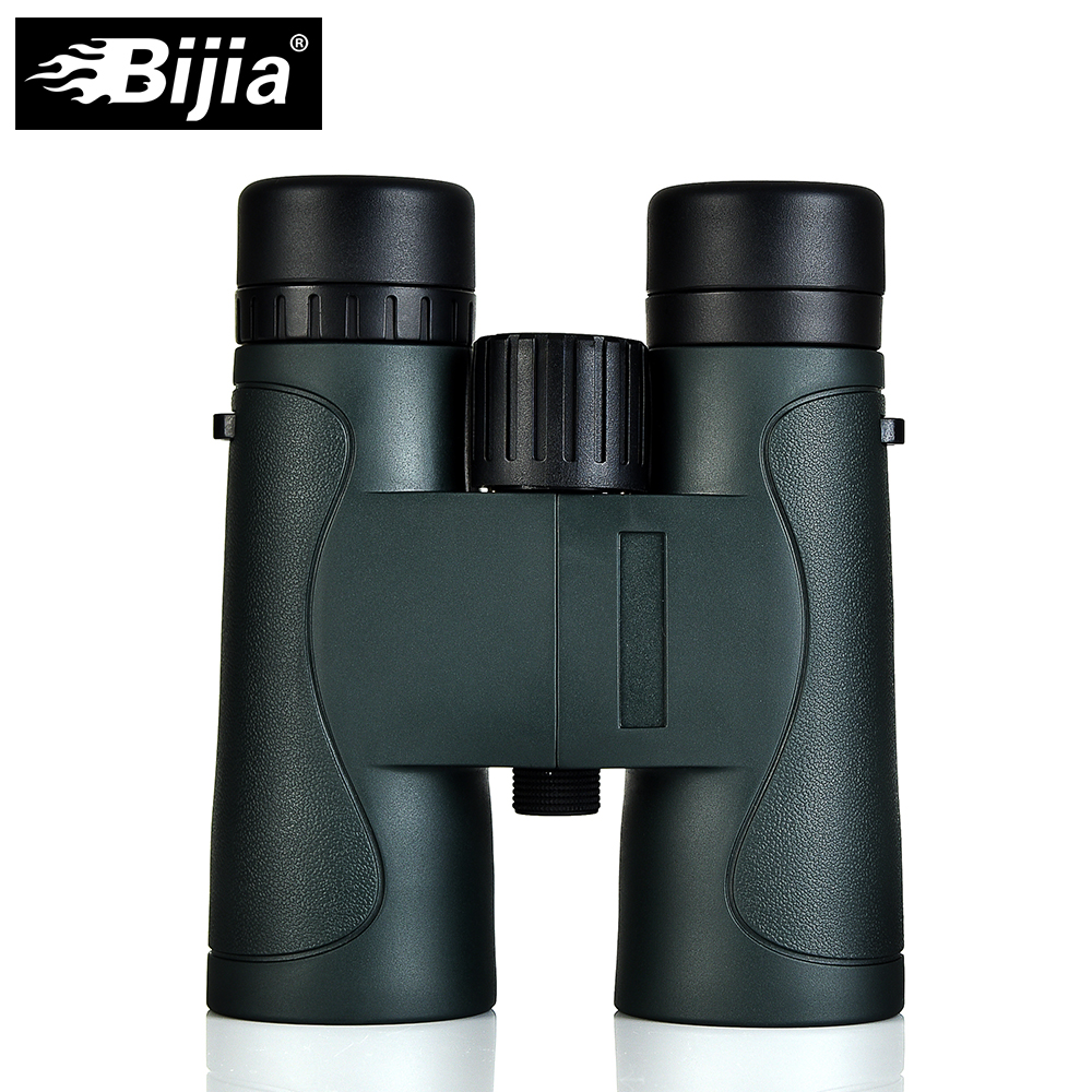 BIJIA Military HD 10x42 Binoculars Professional Waterproof Hunting Telescope High Quality Vision Eyepiece Army Green Black