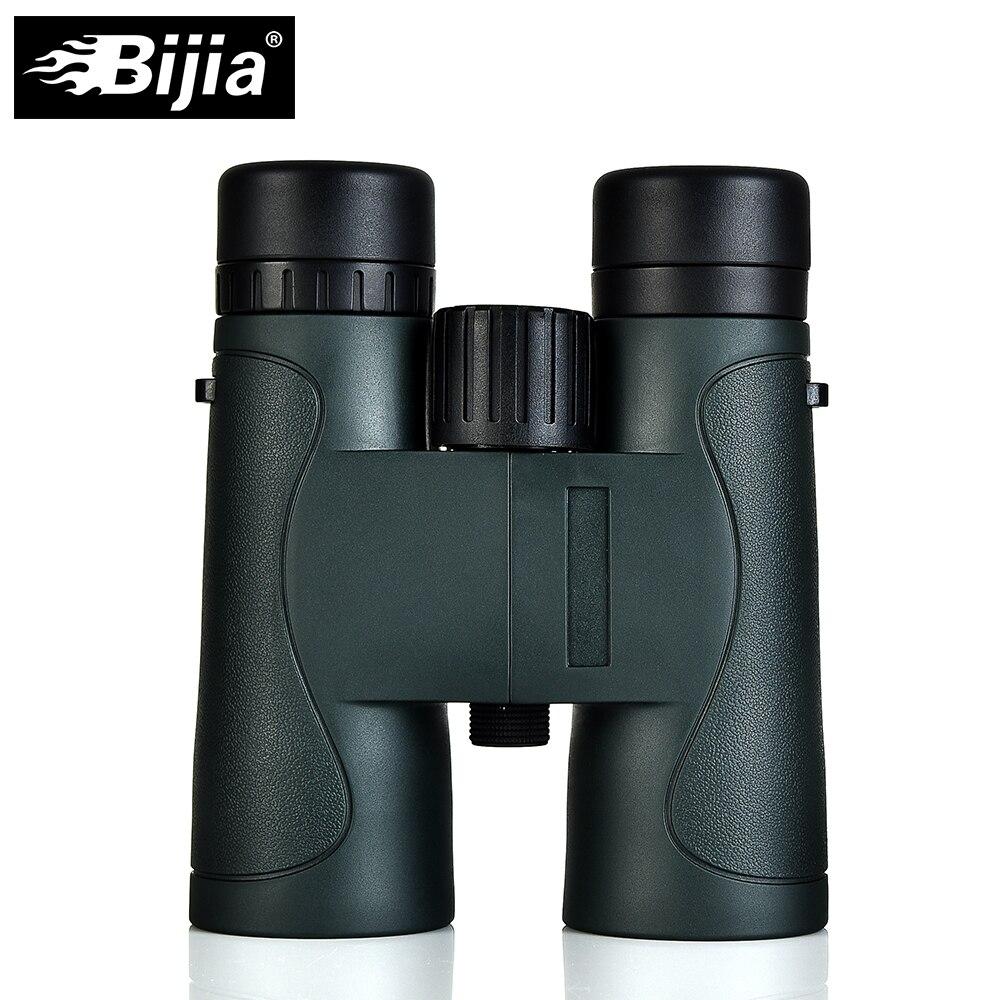 BIJIA Militaire HD 10x42 Jumelles Professionnel Étanche Chasse Télescope Haute Qualité Vision Oculaire Armée Vert/Noir