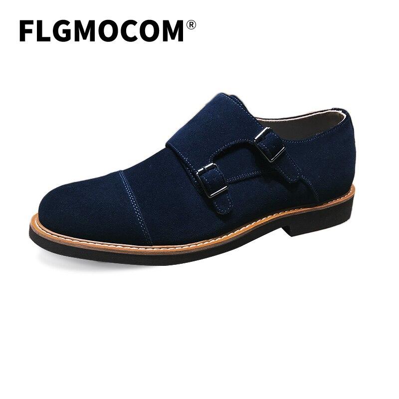 Flgmocom Bespoke Black Color Genuine Leather Suede Men Manual Guide