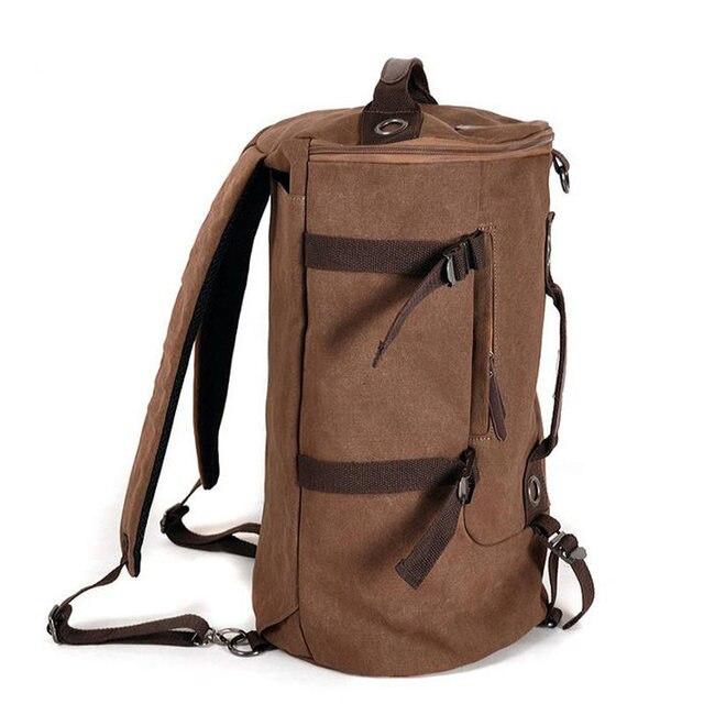 Los Hombres de moda Lienzo de Gran Capacidad de Equipaje Bolsas de Viaje de Doble Hombro Bolso mochilas Mujeres viaje duffle bolsa de Ordenador Portátil de La Vendimia Li347