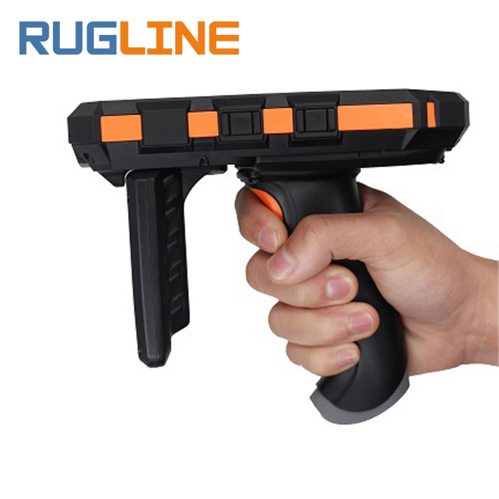 5 inch Mobile 865~868MHz or 920~925MHz Android 7.0 Portable Long Distance Handheld UHF RFID Reader with 4G 2GB RAM Pistol Grip