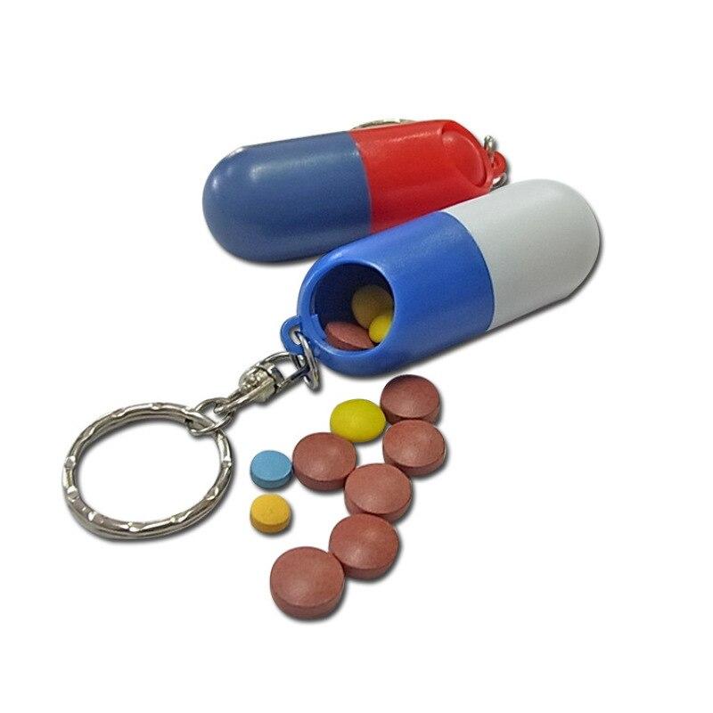 Portable Travle Pill Case Pill Box Capsule Shape medicine box Case Container Organizer Pill Case pillbox Z4