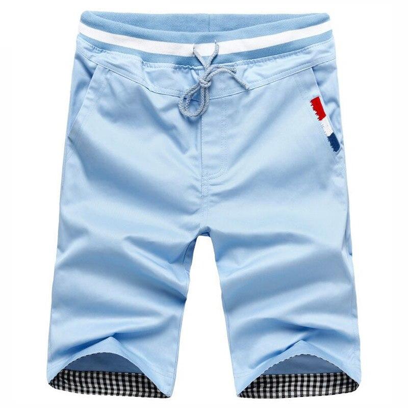 Mens cotton casual slim shorts male bermuda masculina shorts Men khaki Harlan shorts Man boardshorts beach shorts,5 Color