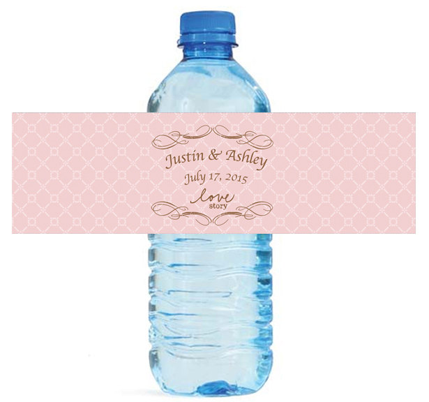 Water Bottle Name Tags: Personalised Lattice Name Party Favors Seal Gifts Tag