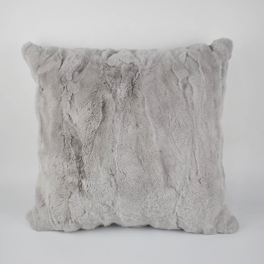 rex rabbit fur pillow 1