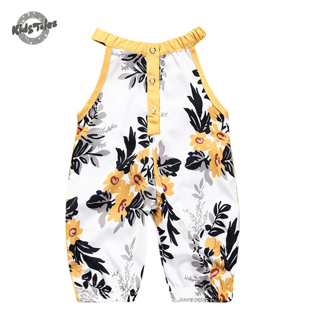 b54e83bef Kids Tales New Floral Printed Cotton Baby Rompers Vintage Baby Girl ...