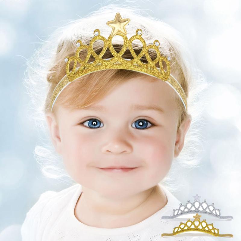 640fe443666c3 2 pcs ensemble Fantaisie Couronne Brillante Bébé Bandeau Filles Bande De  Cheveux Nouveau Infantile Cheveux Accessoires Princesse Tiara Bandeau Q2