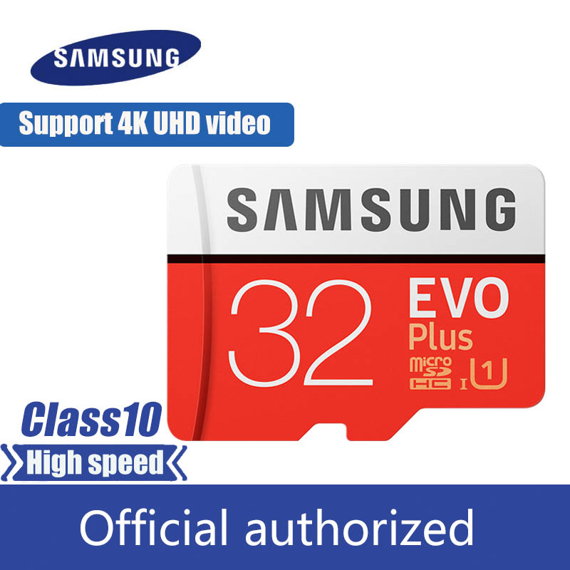 SAMSUNG EVO Plus Memory Card 32GB 64GB 128GB 256G U3 Micro Sd Card C10 UHS-I TF Card 4K HD With Adapter For Smartphone Tablet
