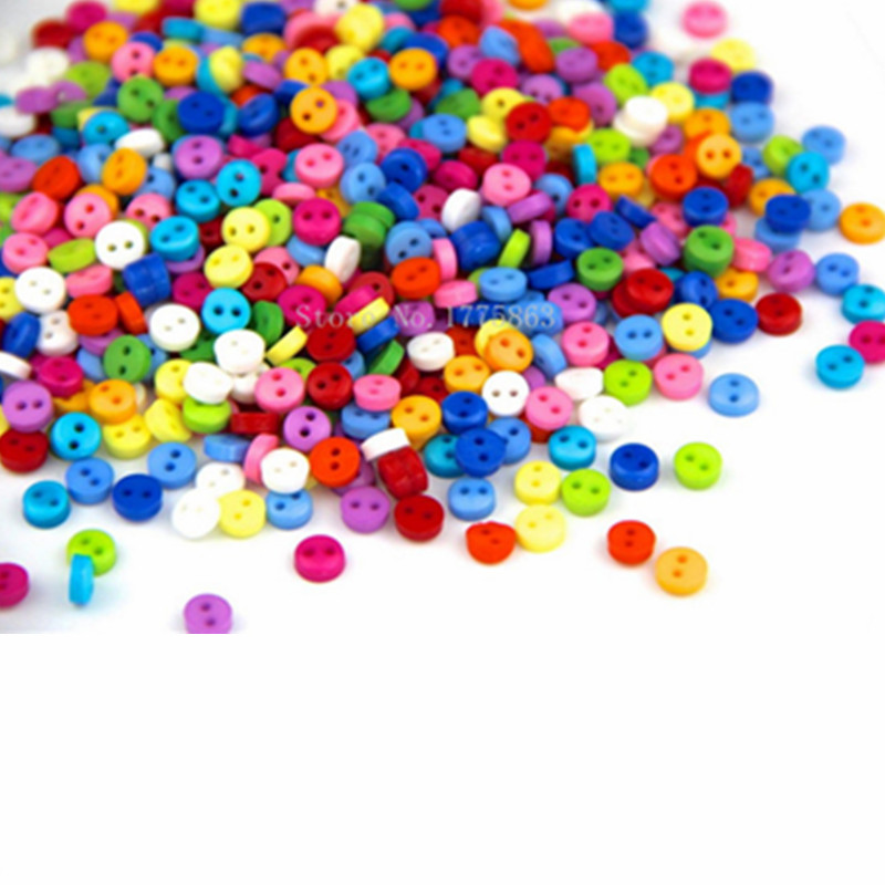 150pcs plastic buttons mix colors DIY craft ornament sewing accessory