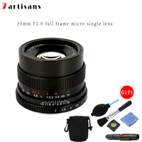 New 7artisans 35mm f2.0 Prime Lens to All Single Series for E mount FX mount Cameras A7 A7II A7R A7RII A7S A6500 X A10 X A2 X A3