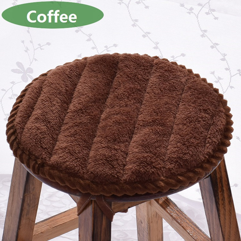 Soft Flannel Round Chair Cushion Mat Sitting Pad Anti-skid Stool Chair Bar Stool Cushion 5 Size Available Home Decor Supplies